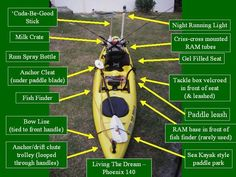 Kayak Hacks When you go for kayaking, you have to need many things and gear. There are a lot of gear and parts of a kayak. All the Accessory are most important. Some Accessory are used for safety and some of them are used for better kayaking and fishing. Kayak Fishing Tips, Kayaking Tips, Bass Fishing Tips, Canoe And Kayak, Gone Fishing, Best Fishing, Fishing Lures, Fishing Boats, Canoe Boat