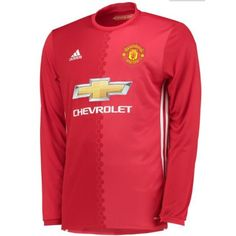 £22.99 Manchester United Home Long Sleeve Shirt 2016 2017