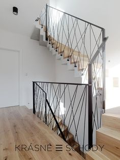 """Unique Staircases photogallery hashtags"""">Gallery of stairs Stair Railing Design, Stair Handrail, Staircase Railings, Modern Staircase, Stairways, Staircase Ideas, Hallway Ideas, Ikea Hallway, Iron Stair Balusters"""