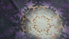 """#하와이안퀼트#하와이안퀼트수업 #머스트의하와이안퀼트클럽 #hawaiianquilt  #handdyedfabric  oder production  #handmade  #applique  #quilt #handmade  #ハワイアンキルト #ハワイアンキルト教室 #ハンドメード #手染め #mustキルト教室 #170cm #68"""""""