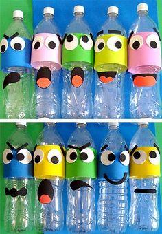 Fall crafts for kids, diy for kids, kids crafts, plastic bottle Kids Crafts, Bear Crafts, Fall Crafts For Kids, Preschool Crafts, Diy For Kids, Animal Crafts, Diy Pour Enfants, Plastic Bottle Crafts, Plastic Bottles
