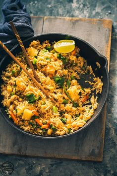 Coconut, Pineapple Thai Fried Rice.