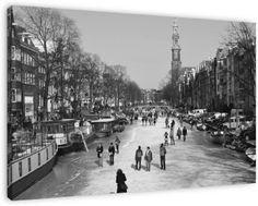 Koop 'Winter in Amsterdam' van Sander Barlage op canvas, dibond of (ingelijste) poster print.