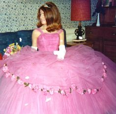 Julia would be the perfect Sissy Princess in this lovely Vintage Girlie Girl Gown,
