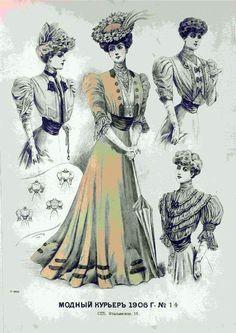 1906 1900s Fashion, 19th Century Fashion, Edwardian Fashion, Diy Fashion, Vintage Fashion, Edwardian Dress, Edwardian Era, Women Right To Vote, Historical Clothing
