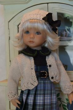 "Effner 13"" Little Darling McCall BJD not Just Plaid Ensemble by LDD Designs 