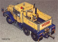 One of my early trucks, built back in the late based on Phil Bradley's Scammell Contractor, complete with heavy load carrier Hobby Toys, Model Building, Diecast Models, Interesting Stuff, Techno, 1980s, Monster Trucks, Corgi, Hobbies