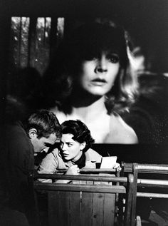 Dennis Hopper and Natalie Wood, 1956, during a showing of A Streetcar Named Desire