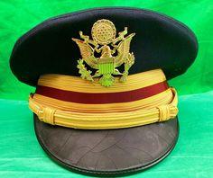 US AIR FORCE DRESS BLUE HAT SERVICE CAP MAN/'S BANCROFT POLY//WOOL SZ 7 1//4