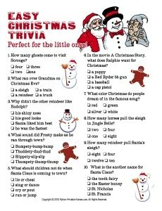 24 Best Christmas trivia for kids images