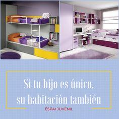 Recuerda, si tu hijo es único, su habitación también! En #espaijuvenil creamos habitaciones con personalidad. Visítanos! http://www.espaijuvenil.cat/ #barcelona #mobiliario