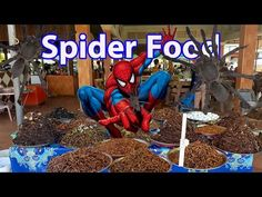 Spider men to be Spider Food, Food factory in my village, fast food, Khm...