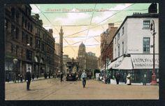 old postcard, Blackett Street, NEWCASTLE-ON-TYNE Northumberland, c1910
