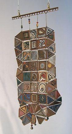 gayla lemke  ceramic hanging tiles