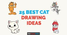 Easy and fun cat drawing ideas. Learn how to draw cat topics with step by step drawing tutorials. Watch a video or download the instructions… Cat Drawing Tutorial, Drawing Tutorials, Drawing Ideas, Tiger Drawing, Cute Cat Drawing, How To Draw Simba, Learn To Sketch, Chibi Cat, Popular Cartoons