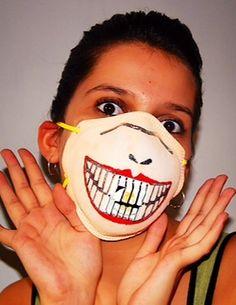 41 Best Funny Flu Masks Images Swine Flu Flu Mask Face Masks