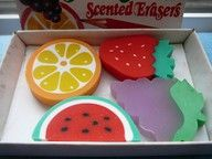 Scented Rubbers - I had the orange and strawberry.