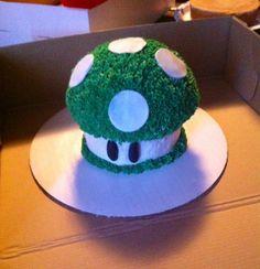 Mario themed smash cake