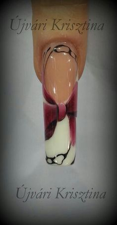 Lovely design by Krisztina Ujvari Fabulous Nails, Gorgeous Nails, Love Nails, Pink Nails, Pretty Nails, Nail Atelier, Talon Nails, One Stroke Nails, Sculptured Nails
