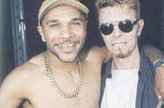 David Bowie and Goldie (hero of Trip Hop). David Bowie Born, Bowie Starman, Trip Hop, Major Tom, Bjork, David Jones, Brixton, Record Producer, Music Is Life