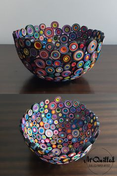 This is a mix of ALL the colours, and it really is Groovy! This was the first in this style I made, and will forever be known as Groovy Number 1. I've made several since, and it is my most popular style to date. Paper Bowls, Paper Artist, All The Colors, Decorative Bowls, Style Me, Art Pieces, Just For You, Colours, Number