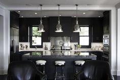 contemporary kitchen; black & white!