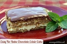 Mommy's Kitchen - Country Cooking & Family Friendly Recipes: Easy No Bake Chocolate E'clair Cake