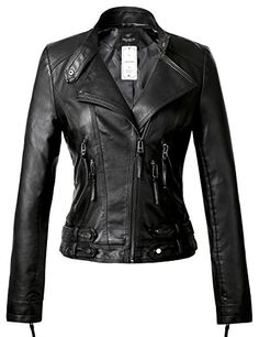333c490e79b Tanming Women s Fashion Faux Leather Moto Biker Short Jackets (X-Small