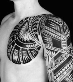 Photo extraite de Tatouage Tribal: 15 idées pour des motifs tribaux (15 photos)                                                                                                                                                                                 Plus