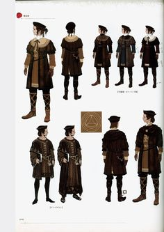 Typical clothes worn by intiates and low ranking scholars as well as students of the Arcbrook College in Absolom, the capital of Librarion.