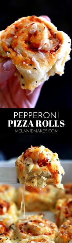 These Pepperoni Pizza Rolls are absolutely nothing like anything you can find in the grocery store freezer section. A fluffy, homemade brioche bread dough is layered with pizza sauce, garlic, pepperoni, mozzarella cheese and basil before being cut into rolls. After baking, they're sprinkled with even more cheese and basil to create these addictive rolls.