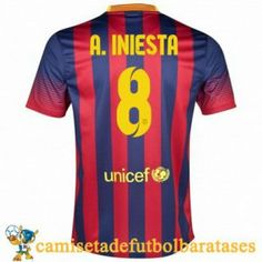 Camisetas Barcelona A.Iniesta futbol casa 2013-2014