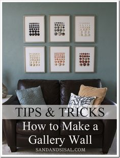tip on how to make a gallery wall.  But LOOK at her fun framed sea shells!!!  such a great idea to do w/ the collections from summer vacays! via @- SAND - and Sisal