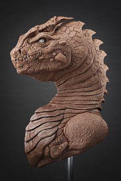 Dragon Clay Sculpture Modeling Monster  Creature Handmade Sticks Tools / Escultura Dragón Plastilina Modelado Tradicional Estiques  Monstruo