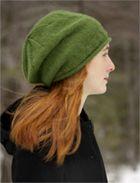 Free slouchy hat knitting pattern.