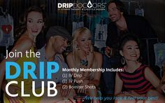 Join the Drip Club! - Get extra savings and exclusive monthly offers! Each month, you can choose 1 of any signature IV Drip, 1 IV Push and 2 Booster Shots💧💉 We are your one-stop shop, catering to all of your health, wellness and beauty needs. Now, you can have it all! Get your weekly dose! Join Now! 💯 la.dripdoctors.com or ☎(213)749-DRIP 💧😄 #dripdoctors #dripwithus #IV #vitamins #vitamintherapy #PushIt #drip #club #health #wellness #beauty #vitality #happines