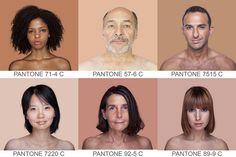 Angelica Dass - Artist Aims To Catalog All Possible Skin Tones Using PANTONE Color Chart - DesignTAXI.com