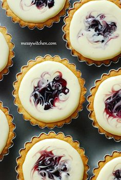 Blueberry Cheese Tarts from @messywitchen