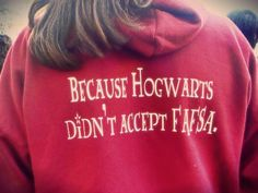 Harry Potter! #hogwarts #fafsa #financialaid