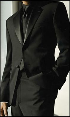 Seriously love the Black on Black suit/tux idea. Different from the plain white shirt!