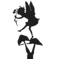 Thumpkin Fairy Garden Shadow Silhouette - Fairy Garden Miniatures ...