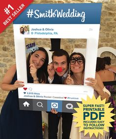 Wedding Photo Props And DIY Photobooth Ideas ❤ See more: http://www.weddingforward.com/wedding-photo-props-diy-photobooth-ideas/ #weddings