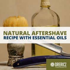 Replace your toxic aftershave with something safe, natural, and wonderfully scented. This natural aftershave with essential oils is so easy to make!