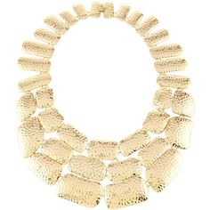 Lydell Nyc Golden Hammered Statement Bib Necklace ($28) ❤ liked on Polyvore featuring jewelry, necklaces, gold, gold jewellery, gold layered necklace, gold necklace, golden necklace and geometric necklace