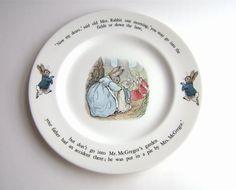 Vintage Beatrix Potter Wedgwood China Set by OldAuntsAttic on Etsy, $95.00