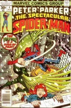 Peter Parker the Spectacular Spider-Man 4 Marvel comics group Marvel Comic Books, Marvel Dc Comics, Comic Books Art, Comic Art, Marvel Villains, Caricature, Sal Buscema, Spectacular Spider Man, Classic Comics