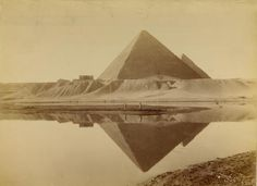 1860-1880: Las antiguas Pirámides de Egipto de Giza.
