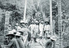 1897: Spanish soldiers in Silang, Cavite Province