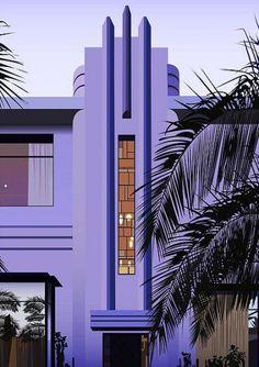 New art deco miami interior architecture 25 ideas Architecture Design, Architecture Art Nouveau, Futuristic Architecture, Building Architecture, Miami Architecture, Vintage Architecture, Motif Art Deco, Art Deco Pattern, Art Deco Design