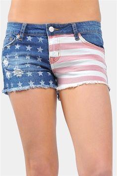 All America Summer Shorts - Blue